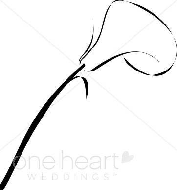 Clip Art Calla Lily.