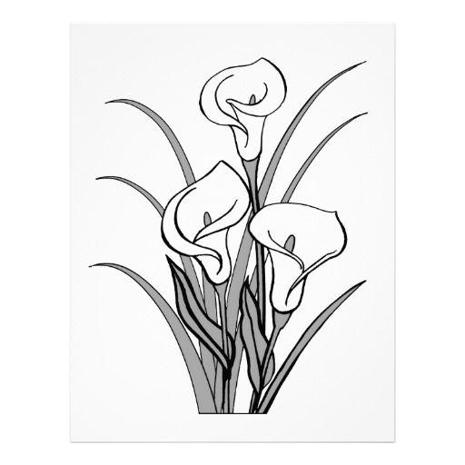 Image of Calla Lily Clipart #5743, Calla Lily Stencil.