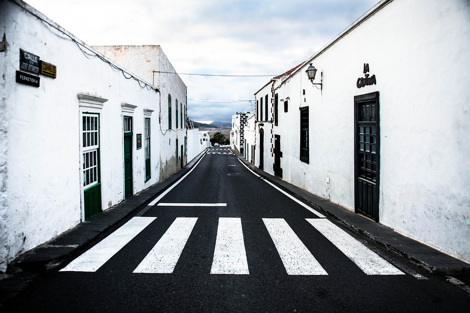 Free photo Road Teguise Calle Jose Betancort Lanzarote.
