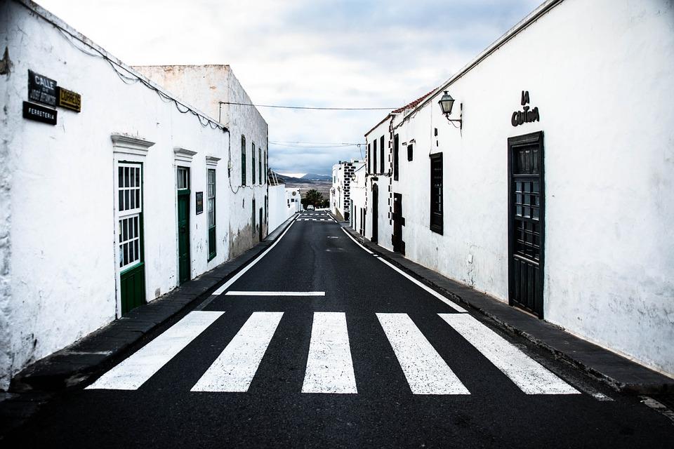 Free photo Road Teguise Calle Jose Betancort Lanzarote.