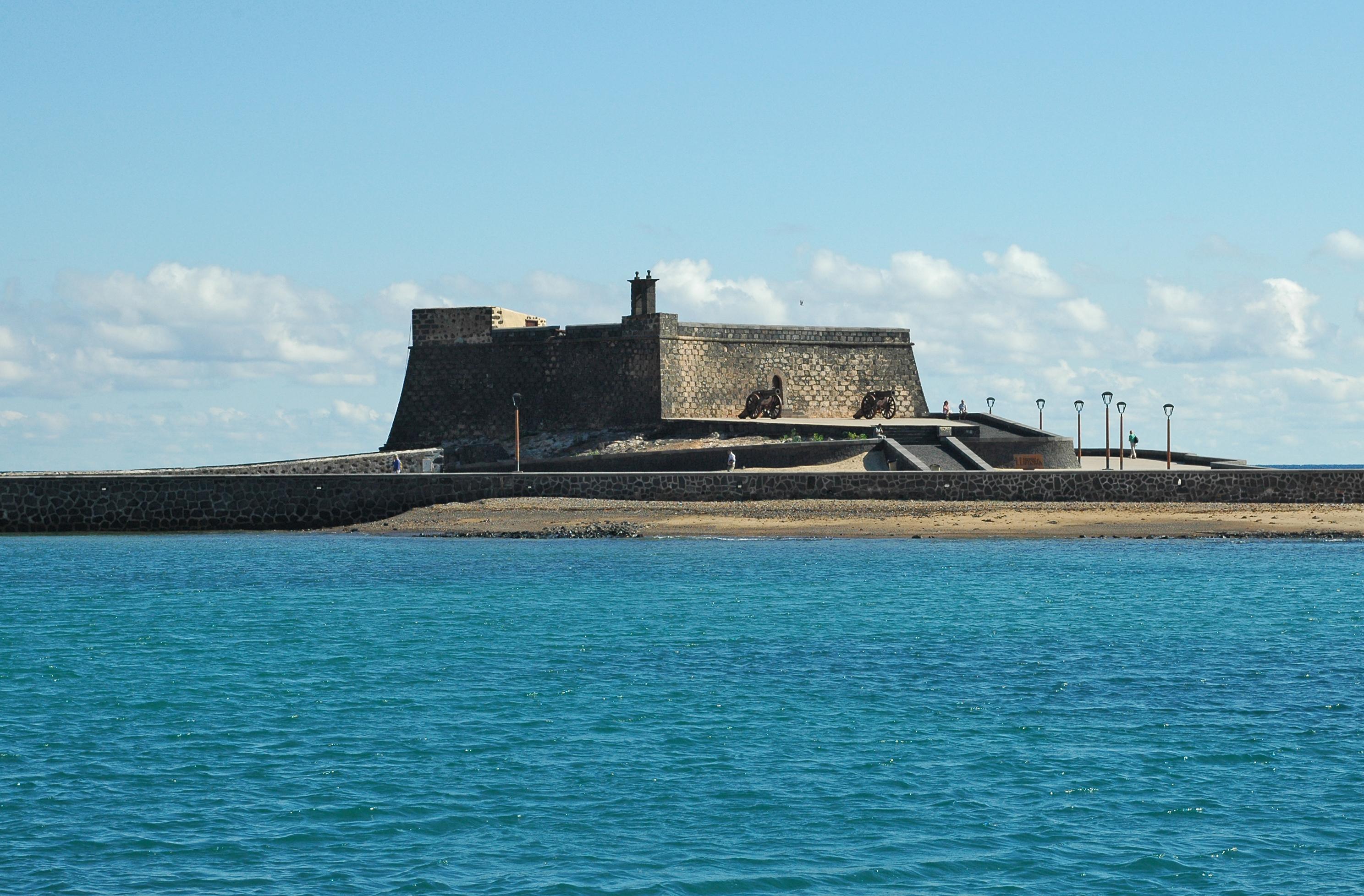 The city of Arrecife in Lanzarote.