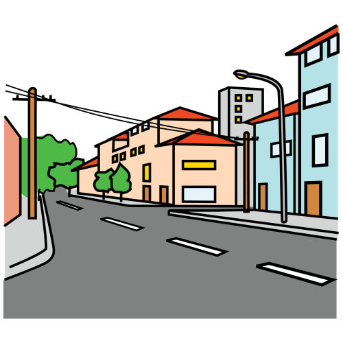 Calle animada png 1 » PNG Image.