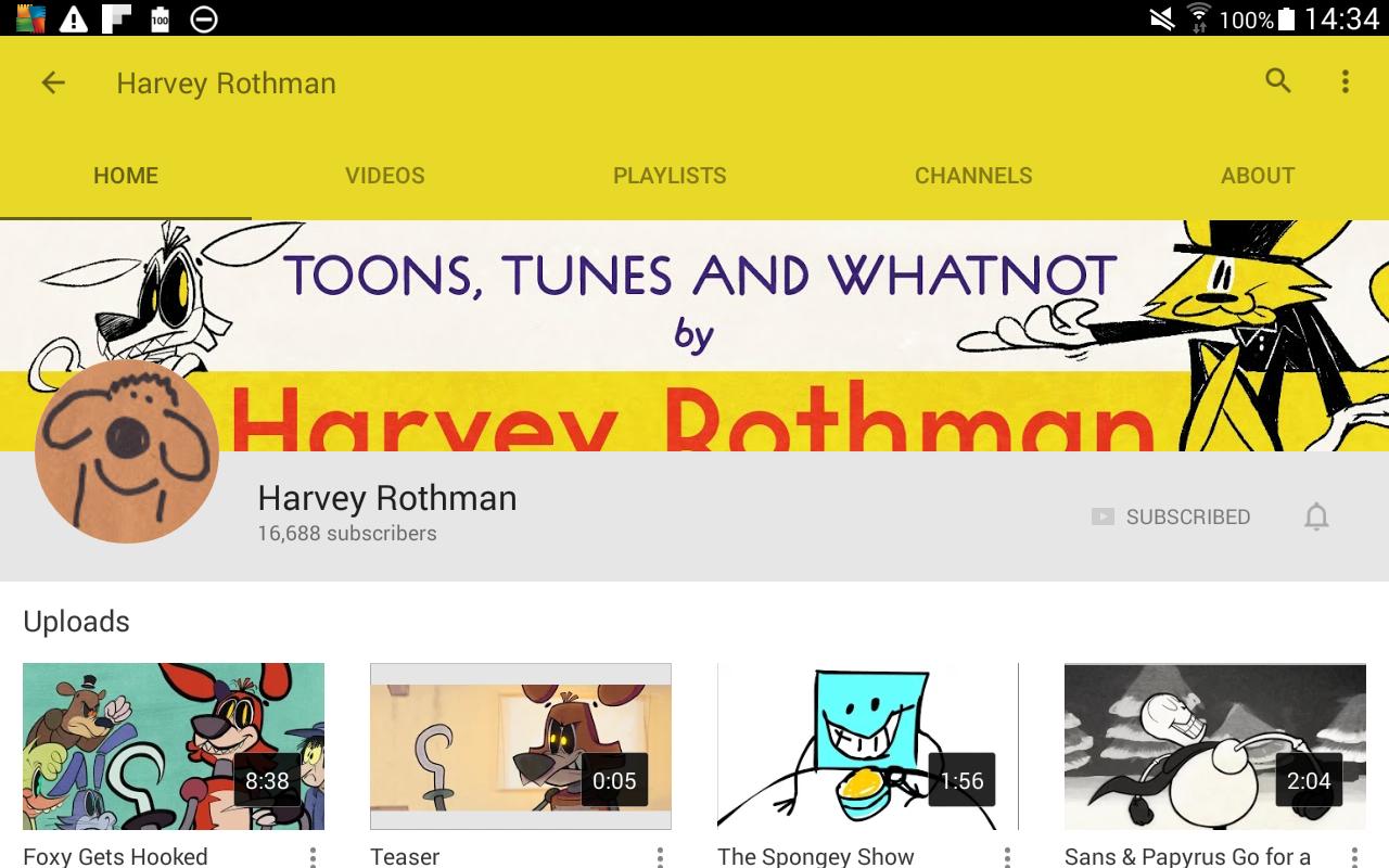 Harvey Rothman's cartoon animation 'Foxy Gets Hooked'.