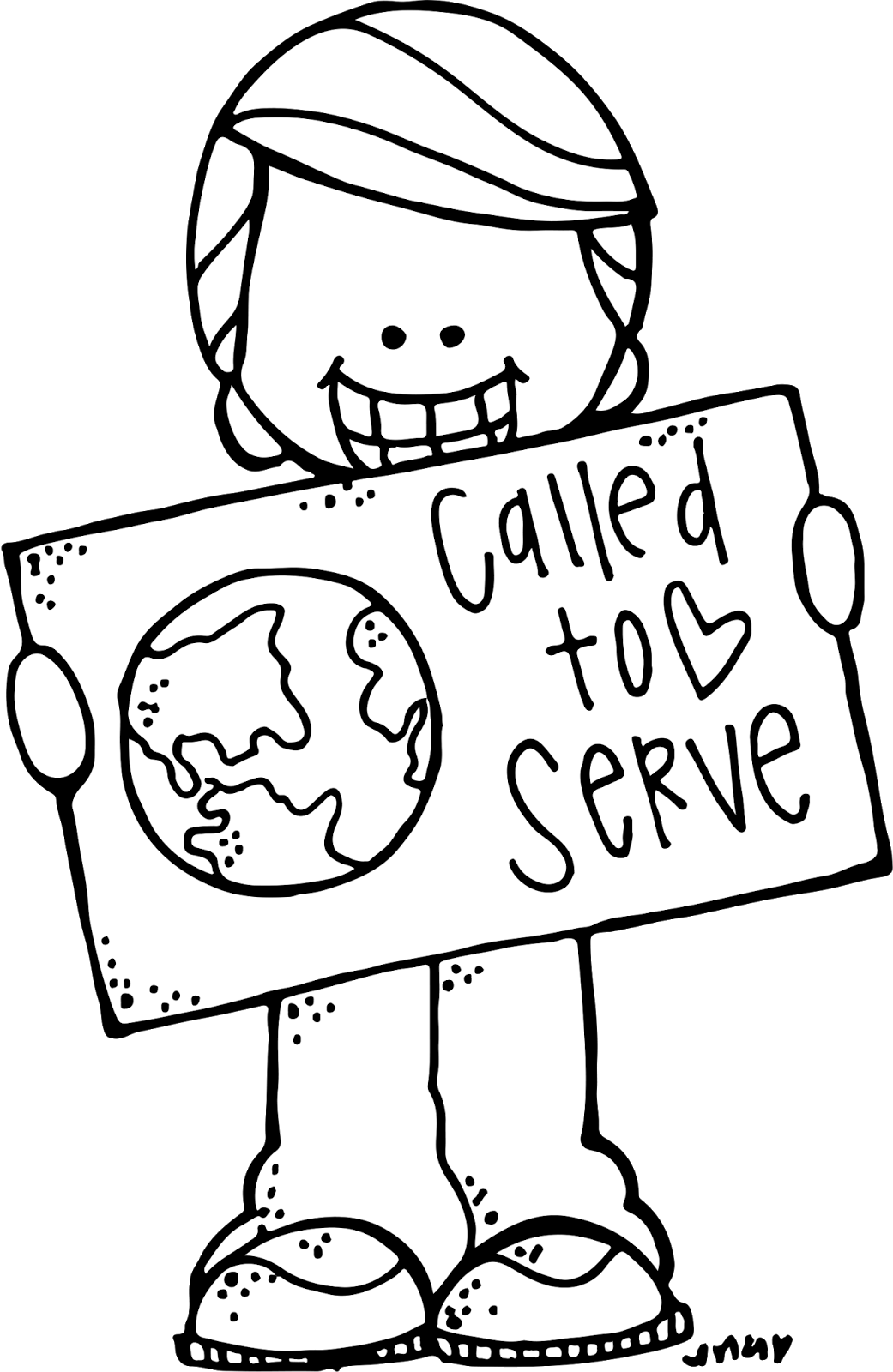Mission clipart called to serve, Mission called to serve.