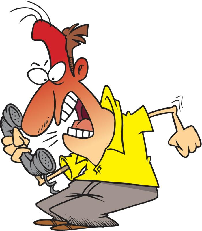 Angry Caller Clipart.