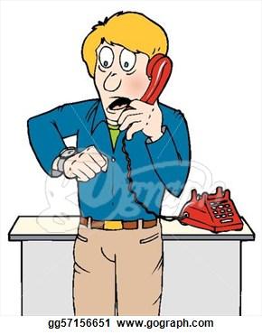 Clip Art Phone Caller Clipart.