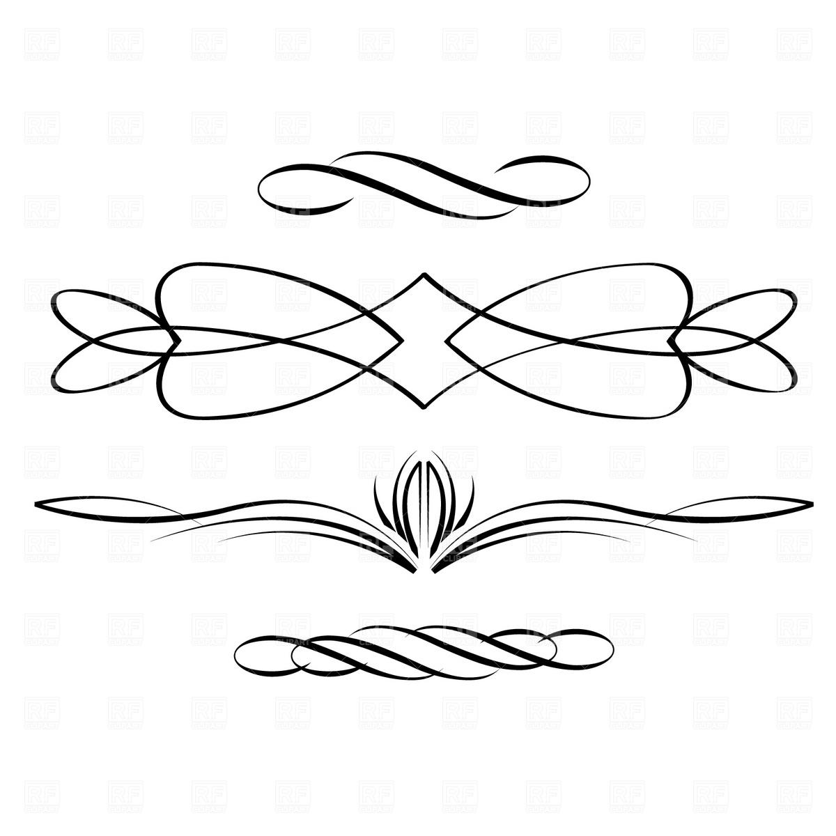Calligraphic clipart #3