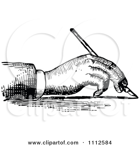 Calligraphy Hand Writing Clipart.