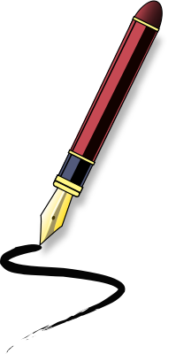 Calligraphy Pen Clipart.