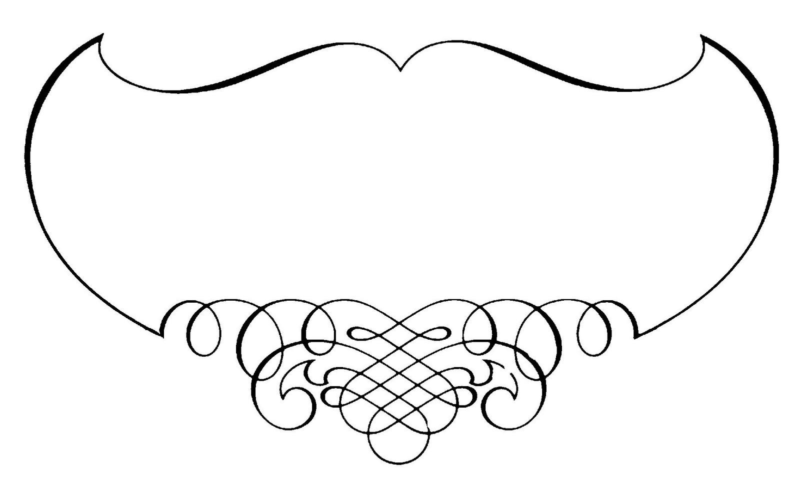 Clip Art Calligraphy Borders Clipart.