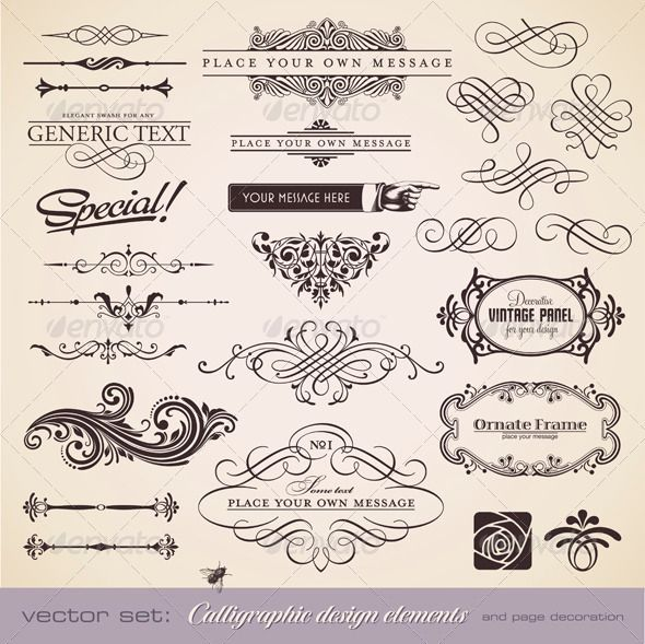 calligraphic and floral design elements.