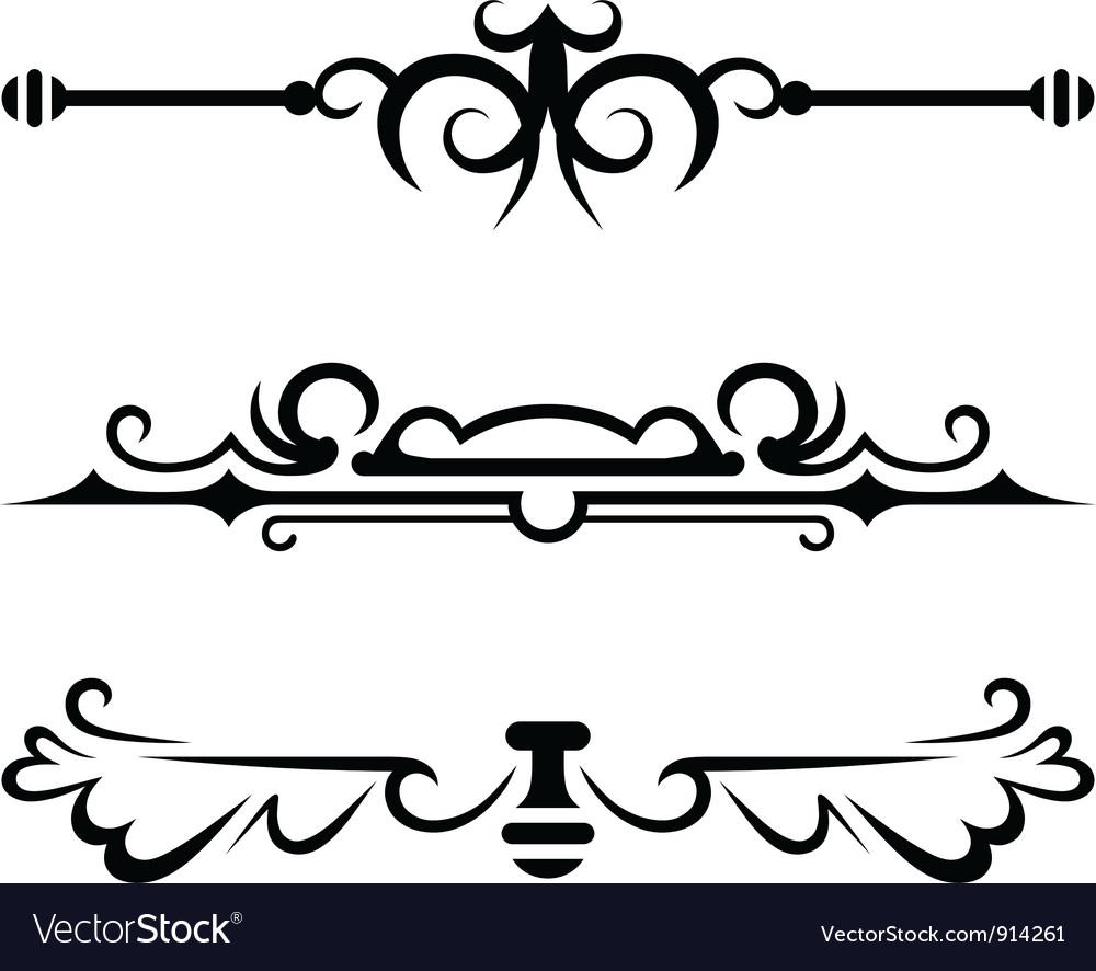 Set calligraphic design elements.
