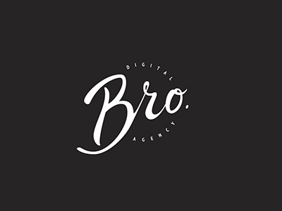 Calligraphic logo for Bro by Nicole Rossi on Dribbble.