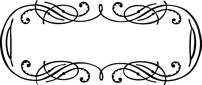 Vintage Calligraphy Border Frame Clip Art Vector Image.