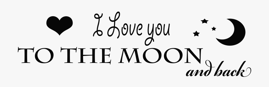 Clip Art Stock I Love You To The Moon And Back Clipart.