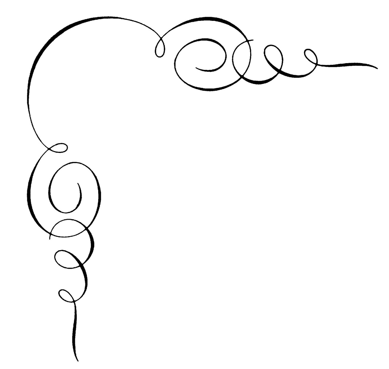 Calligraphy Clipart.