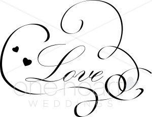 Love Calligraphy Clipart.