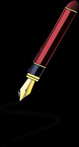 Calligraphy pen clip art.