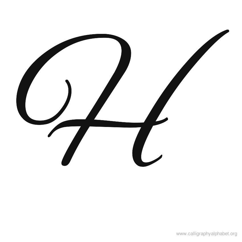 Calligraphy Alphabet H.