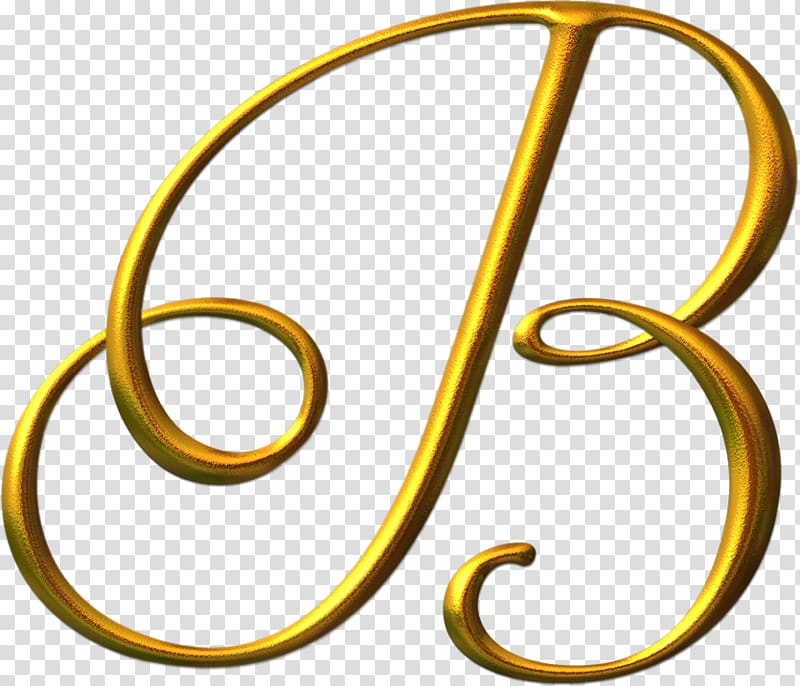 Gold B letter, Letter Alphabet Calligraphy Font, LETRAS.