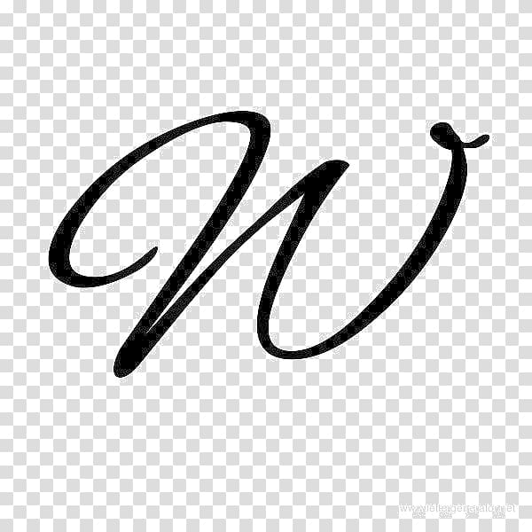 Cursive Letter case Alphabet W, Calligraphy Letter.