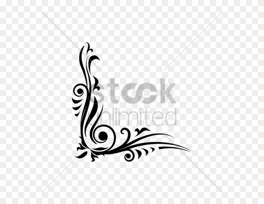 93 Calligraphy Flower Border Designs Png Vector Flowers.