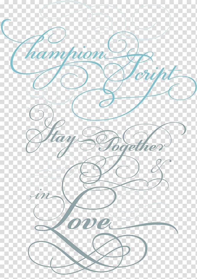 Script typeface Calligraphy Cursive Font, calligraphy text.