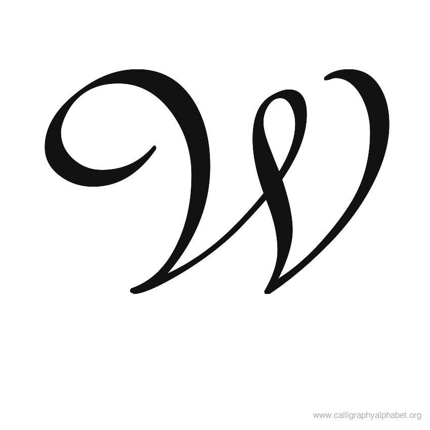 Calligraphy Alphabet W.