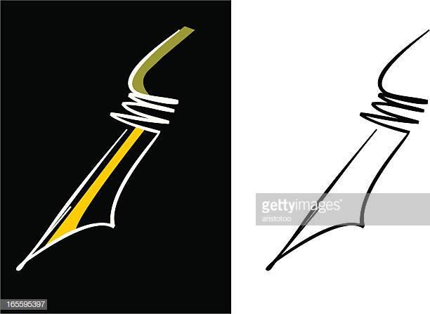 60 Top Calligraphy Pen Stock Illustrations, Clip art, Cartoons.