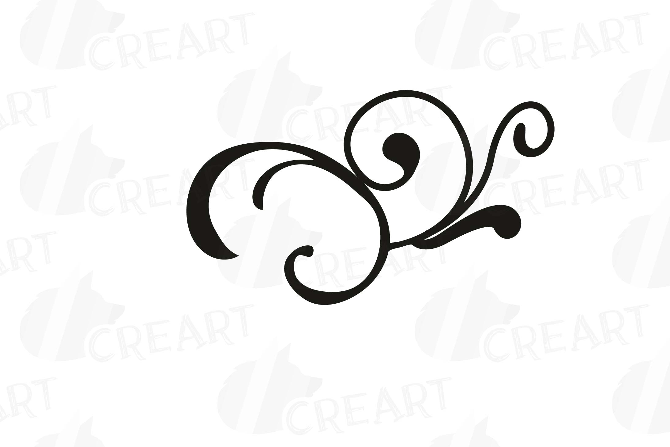 Calligraphy Swirls Clip Art, Calligraphic Doodles, svg, png.