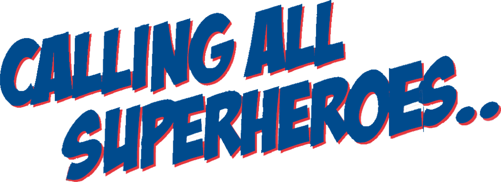 Superheroes clipart calling all, Superheroes calling all.