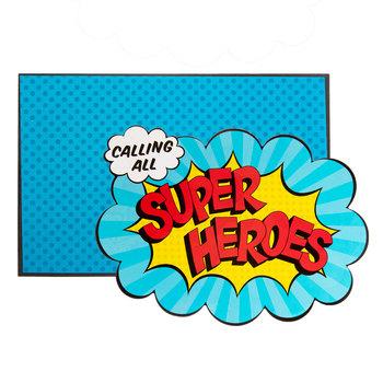 Superhero Birthday Invitations.