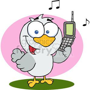 Calling Bird clipart. Royalty.