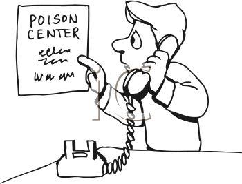 Man Calling a Poison Center Emergency Hotline.