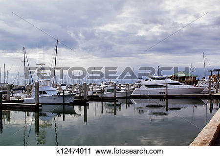 Stock Photography of Stormy Harbor:Calm before the storm k12474011.