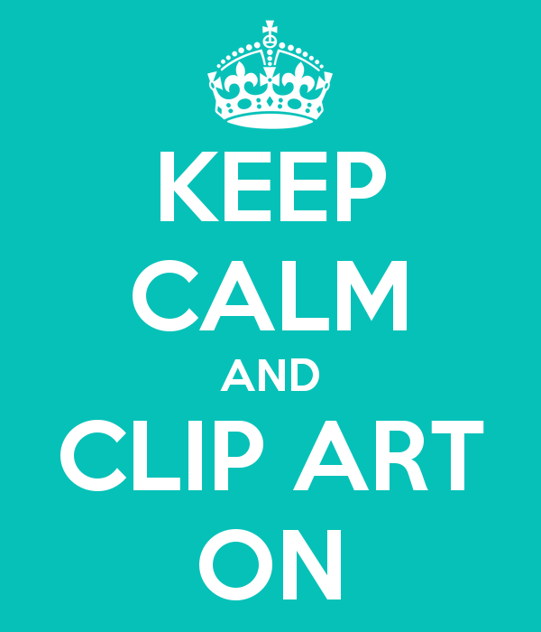 Stay calm clipart.