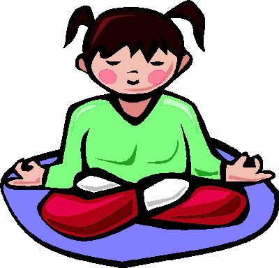 Calm child clipart.