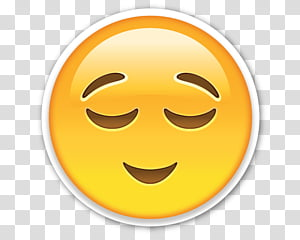 Calm emoji transparent background PNG clipart.