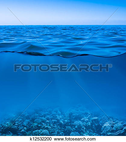 Stock Photograph of still calm sea water surface k5729619.