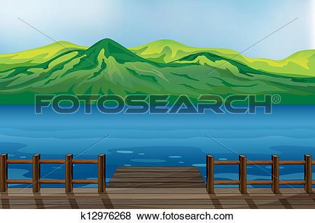 Clip Art of A blue calm sea k12976268.