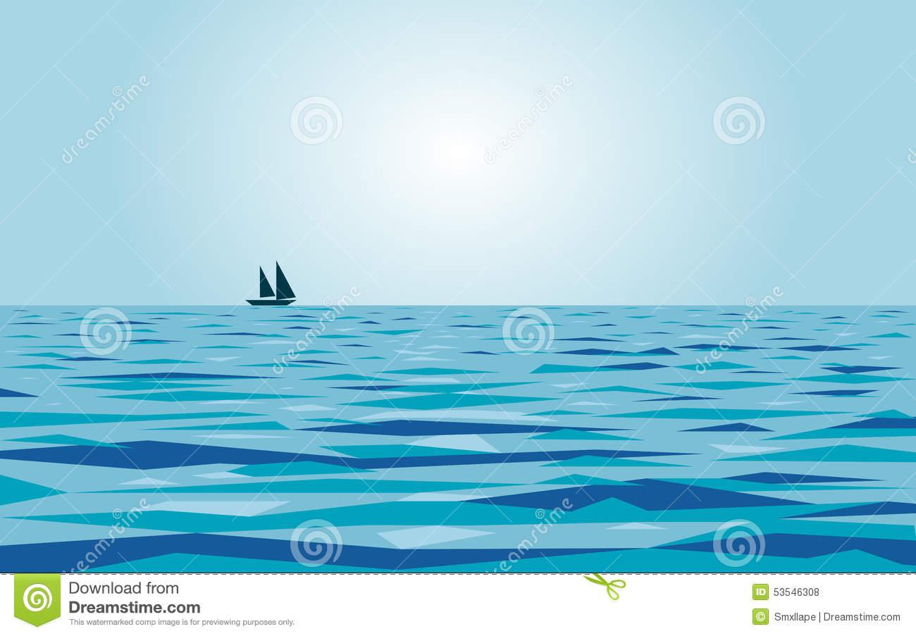 Calm Sea Clip Art.
