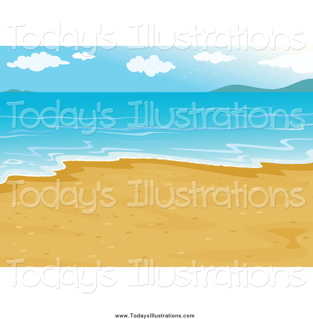 Clipart of a Beach with Calm Water by colematt.