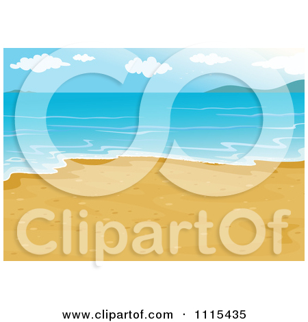 Clipart Landscape Background Of A Beach With White Sand And Calm.
