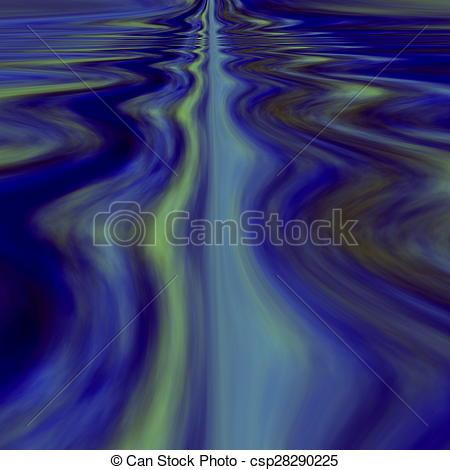 Clip Art of Infinite calm waters. Dream..