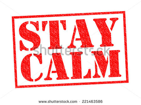 Stay Calm Stock Photos, Royalty.