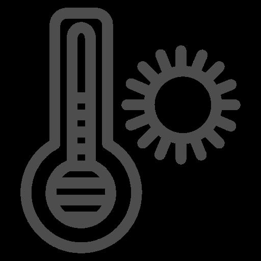 Icono Caliente, el termometro, el calor Gratis de Travelling Icons.