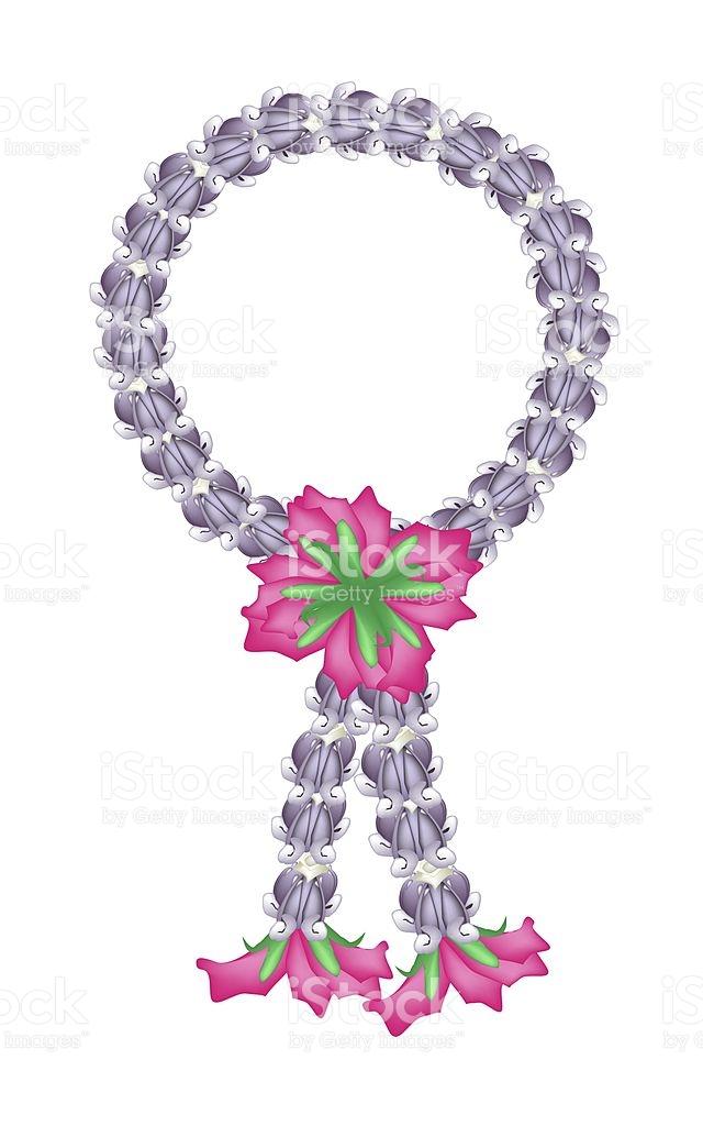 Fresh Purple Calotropis Gigantea Flower Garland stock vector art.