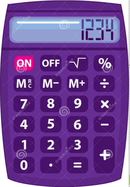 Purple Math Calculator Clipart.