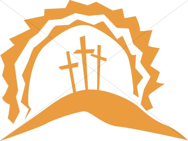Calvary Crosses in the Sun.