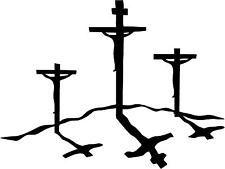 Calvary Cross Jesus Christian Decal 3.75.